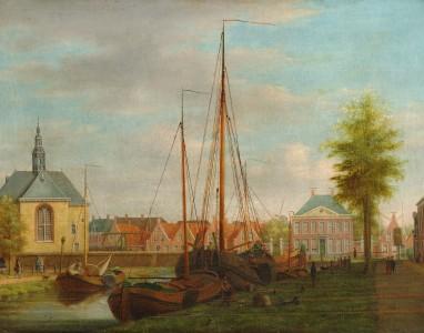 dirk-piebes-sjollema-gezicht-op-de-heerenwal-en-de-kruiskerk-1815-1825.jpeg